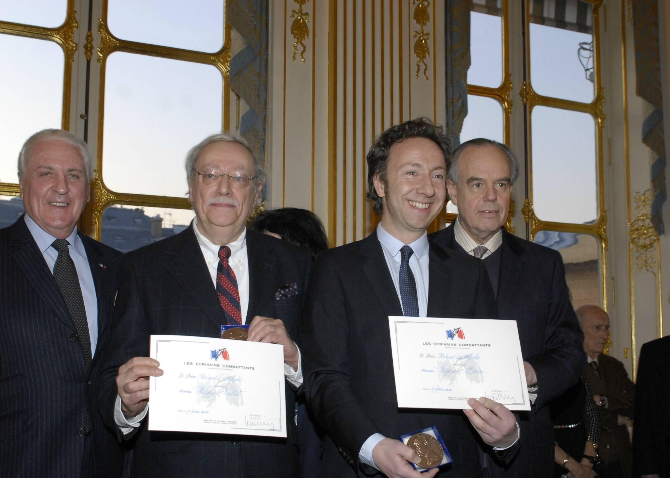 Frédéric Mitterrand en compagnie de Jean Orizet, Philippe Vallet et Stéphane Bern