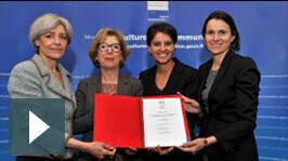 Claudie Haigneré, Geneviève Fioraso, Najat Vallaud-Belkacem et Aurélie Filippetti