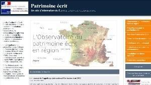 Site Patrimoine Ecrit