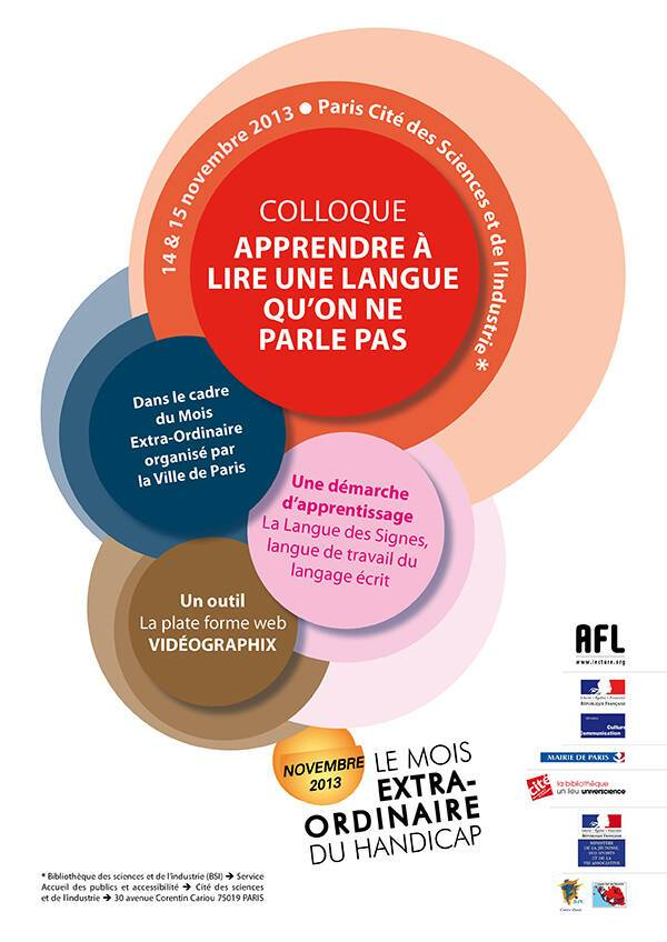 Visuel colloque Langue des signes française 2013