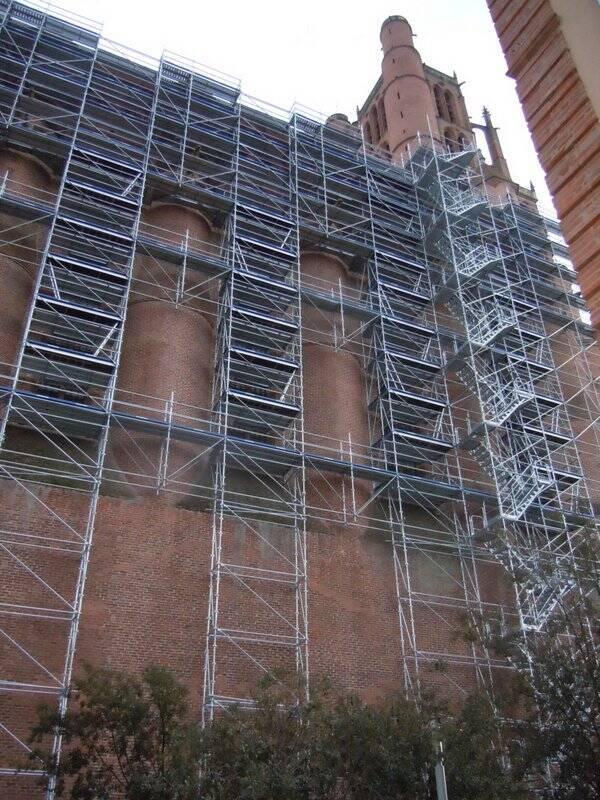 Échafaudages, façade nord