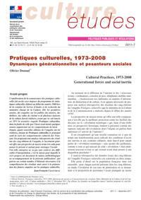 Cultural Practices, 1973-2008 Generational forces and social inertia