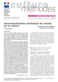 Conceptualisation statistique du champ de la culture