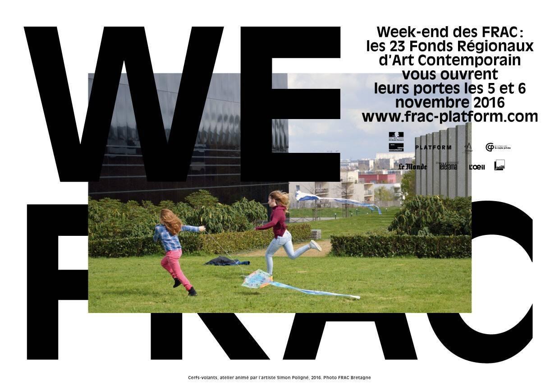 Visuel de la première édition du Week-end des FRAC