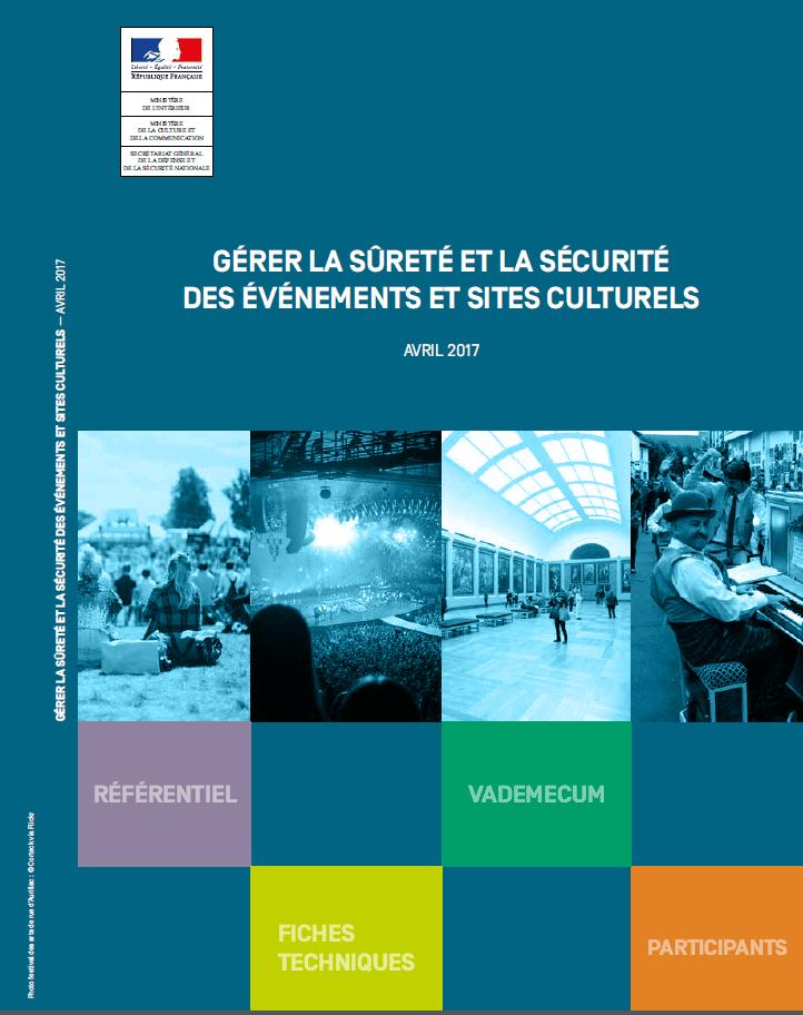 """Couverture du guide """"Gérer la sûreté et la sécurité des événements et sites culturels"""""""