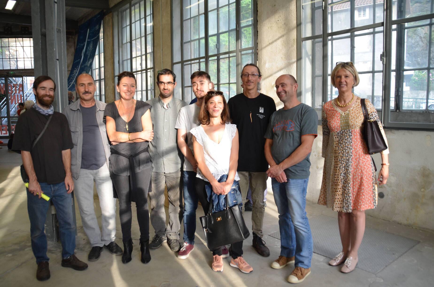 Restitution au Creux de l'enfer de la résidence 2019 de Charlotte Charbonnel dans l'entreprise Claude Dozorme à La Monnerie (Puy-de-Dôme)