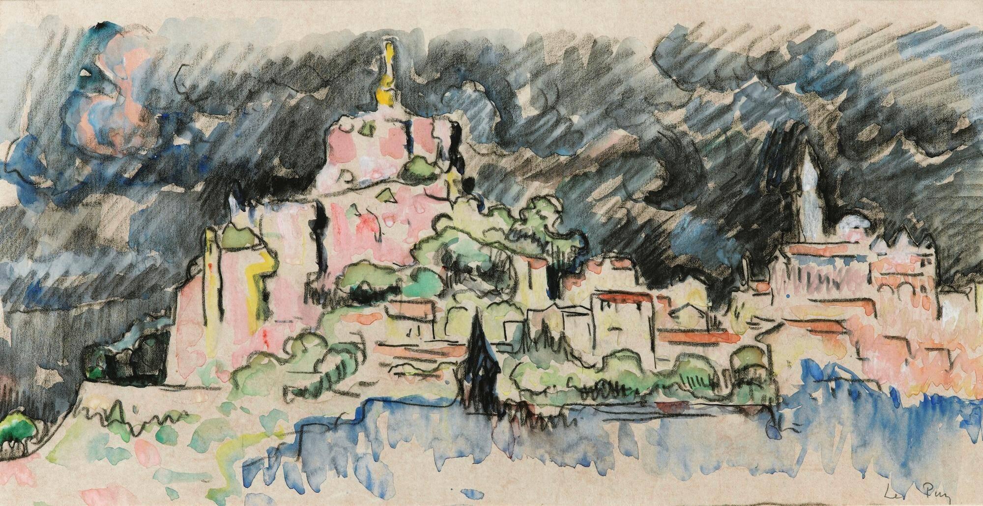 Le Puy-en-Velay, ciel d'orage de Paul Signac