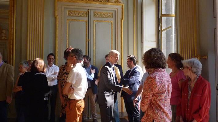 Franck Riester à la DRAC Hôtel de Chazerat