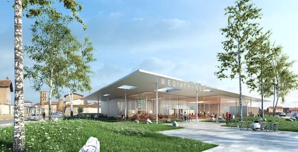 Médiathèque Entre Dore et Allier, à Lezoux inaugurée en juin 2017