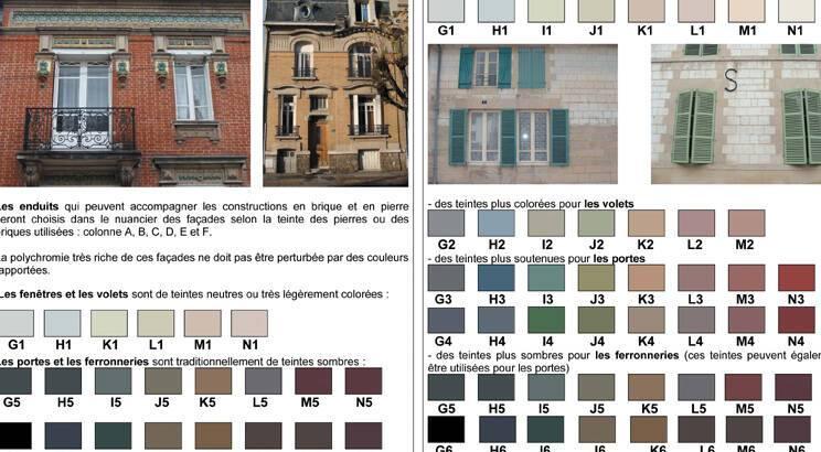 Nuancier Couleur Du Bati Departement De La Marne