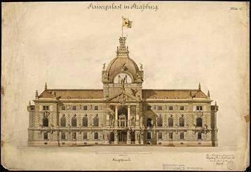 Palais du Rhin gravure