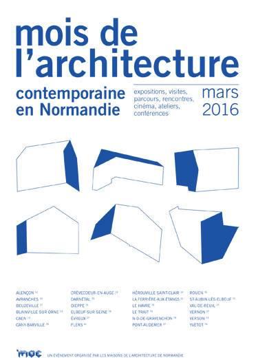 Affiche du Mois de l'architecture 2016 en Normandie