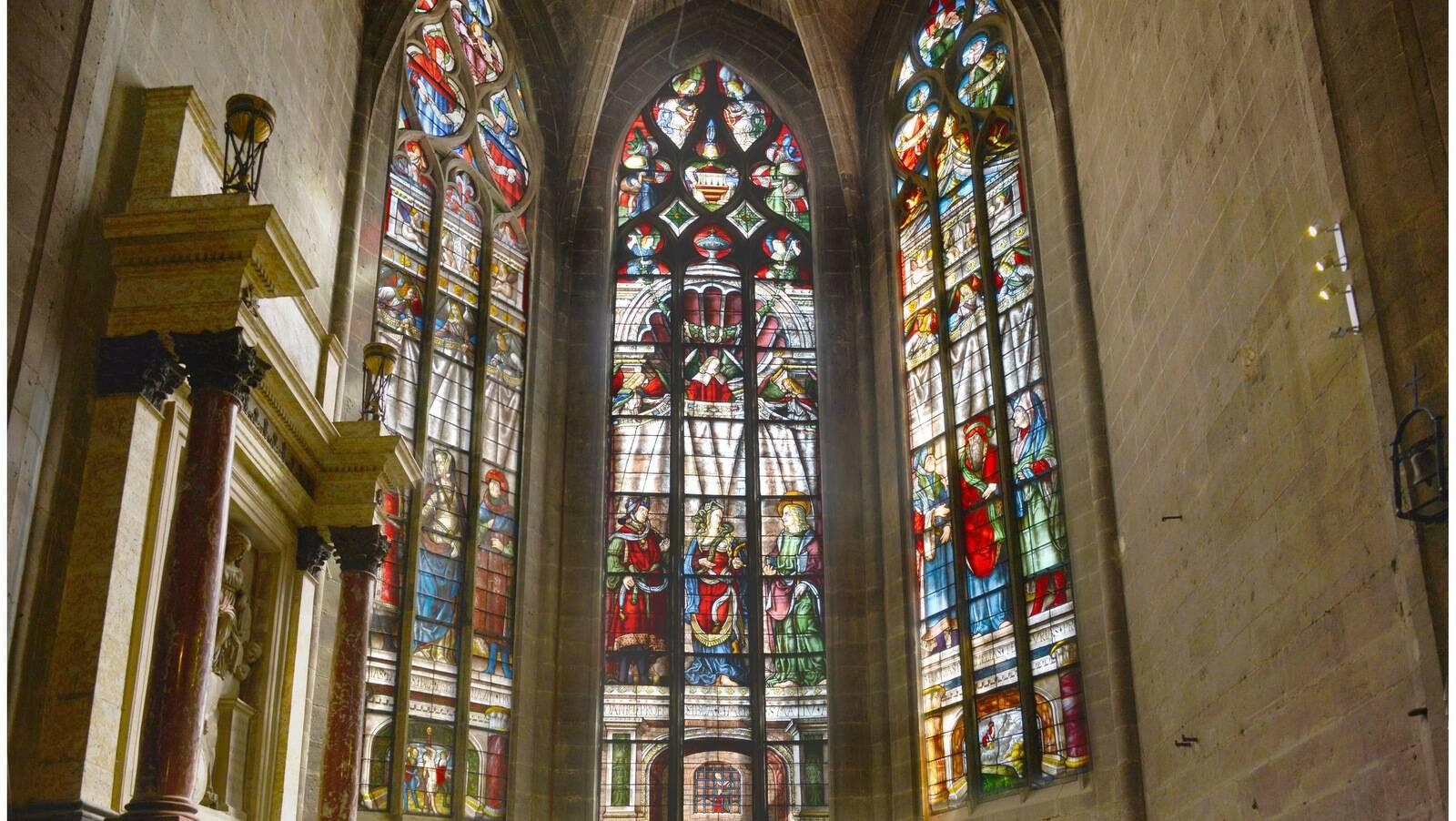 Les trois verrières de la chapelle Saint-Louis