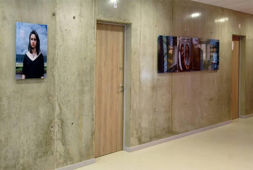 Eclaircie en hiver 2013 - 1% artistique Oeuvre d'Yveline Loiseur pour l' Internat du Lycée Lumière à Lyon