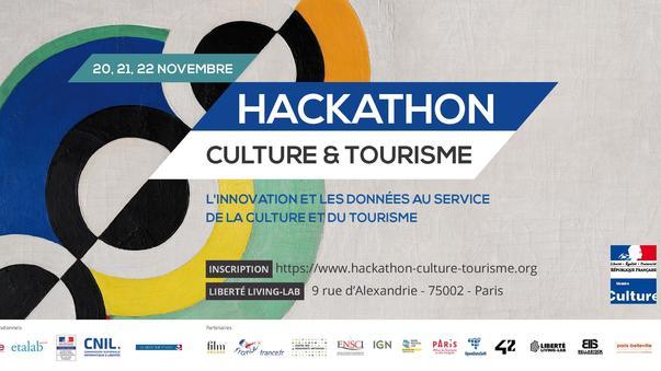 Affiche Hackathon Culture et tourisme