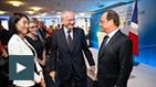 Fleur Pellerin, Olivier Schrameck et François Hollande au CSA