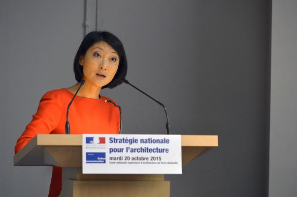 Présentation de la Stratégie nationale pour l'architecture à l'école d'archi de Paris Belleville