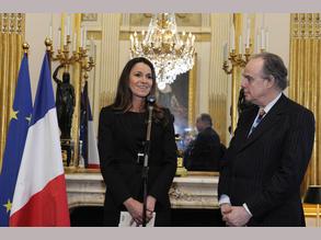 Passation de pouvoir entre Frédéric Mitterrand et Aurélie Filippetti