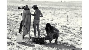 Tournage du film Nyangatom, les fusils jaunes