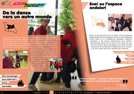 Une page de document présentant les 10 ans du réseau Culture-Santé en Basse-Normandie