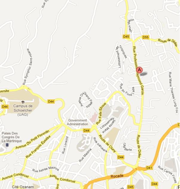 Plan d'accès à la DAC Martinique