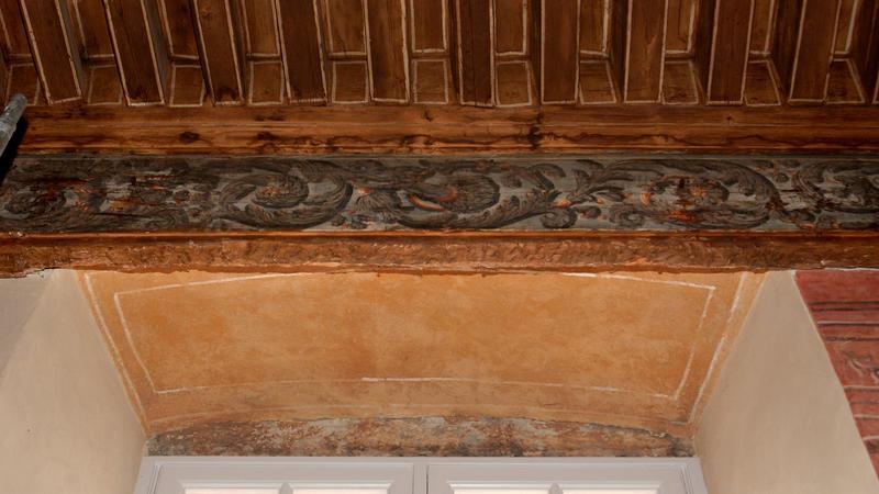 Plafon peint de l'ancien appartement du grand prieur (bureau du directeur).