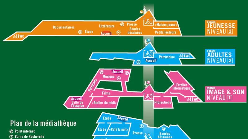 Plan de la médiathèque