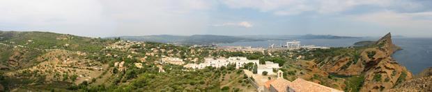 La Ciotat - Panoramique depuis Notre-Dame de la Garde
