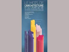 Couverture du programme du Mois de l'architecture