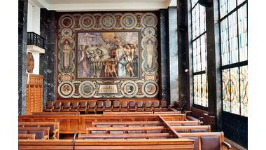 Annexe du palais de justice - Marseille, grande salle du tribunal de commerce
