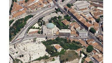 Eglise Saint-Louis - Marseille, Vue aérienne