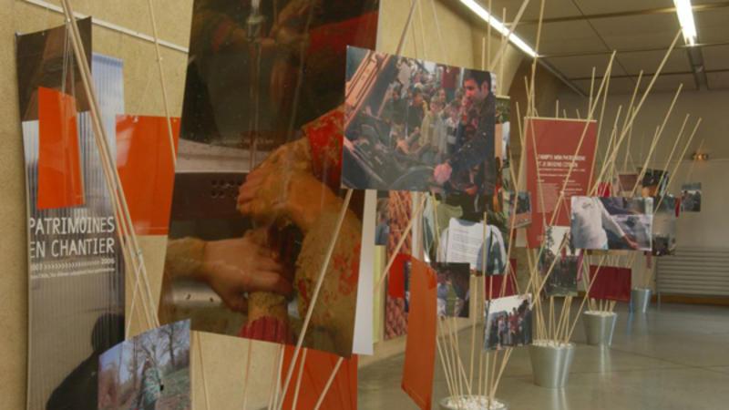 DRAC Rhône-Alpes - exposition Patrimoines en chantier © Jean-Marie Refflé