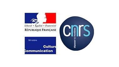 Deux logos : celui du ministère de la culture et celui du CNRS