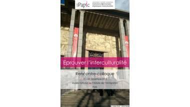 Affiche du colloque Eprouver l'interculturalité