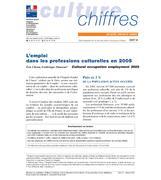 Employment in cultural professions en 2005