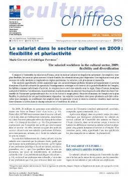 Le salariat dans le secteur culturel en 2009 : flexibilité et pluriactivité