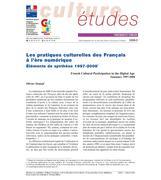 Les pratiques culturelles des Français à l'ère numérique. Éléments de synthèse 1997-2008
