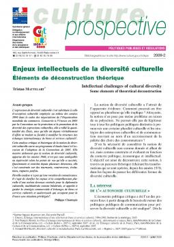 Enjeux intellectuels de la diversité culturelle. Éléments de déconstruction théorique