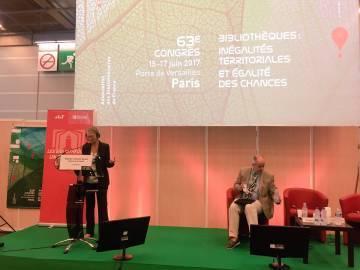 Françoise Nyssen, ministre de la Culture, au Congrès de l'Association des Bibliothécaires de France