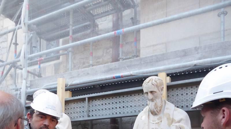 Restauration de la cathédrale de Belley - statuaire - visite de chantier le 5 mars 2019