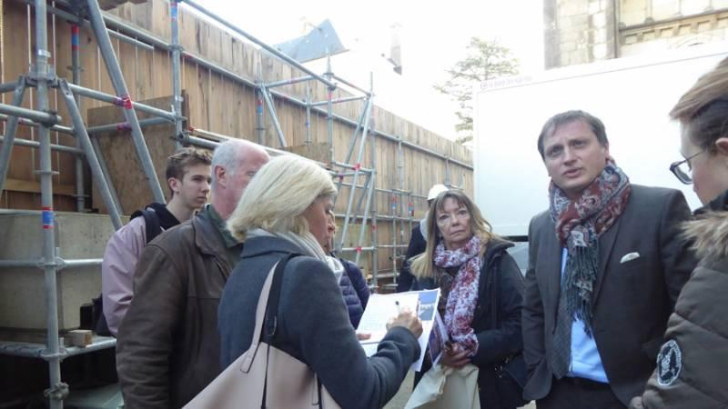 Restauration de la cathédrale de Belley - visite de chantier le 5 mars 2019