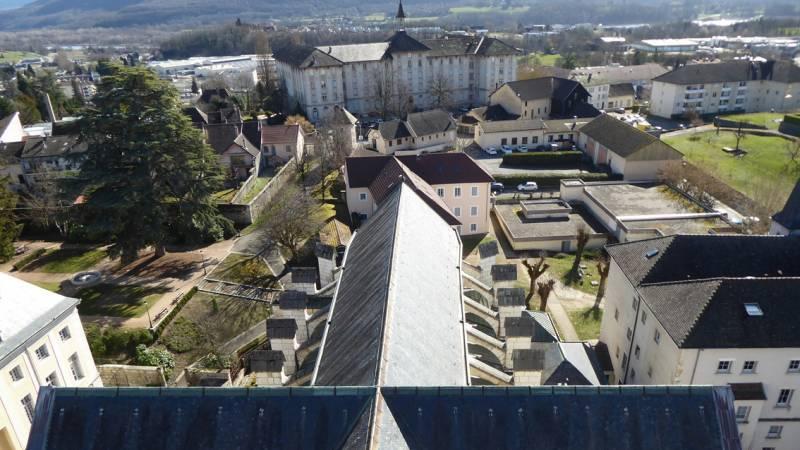 Restauration de la cathédrale de Belley - vue depuis le clocher  - visite de chantier le 5 mars 2019