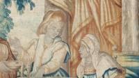 Détail tapisserie flamande Jacob et Esaü le plat de lentilles 17° siècle  - Trésor de la cathédrale Saint-Jean à Lyon