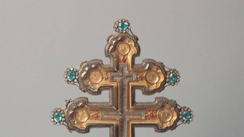 Reliquaire de la Vraie Croix du Cardinal de Bonald 1840  - Trésor de la cathédrale Saint-Jean à Lyon