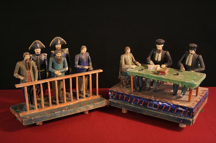 Figurines de Bessans - le tribunal