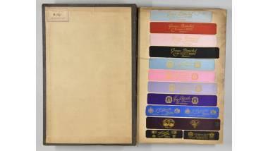 Maison Neyret - Lot de treize registres d'échantillons textiles  musée d'Art et d'Industrie Saint-Etienne
