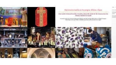 Carte textile et mode en Auvergne-Rhône-Alpes