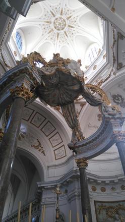 Eglise Saint-Bruno-les-Chartreux à Lyon - le baldaquin de Servandoni restauré