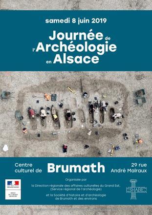 Journée de l'archéologie en Alsace 2019 - affiche