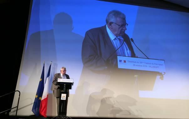 Inauguration du festival du film italien de Villerupt par le secrétaire d'Etat au budget Christian Eckert